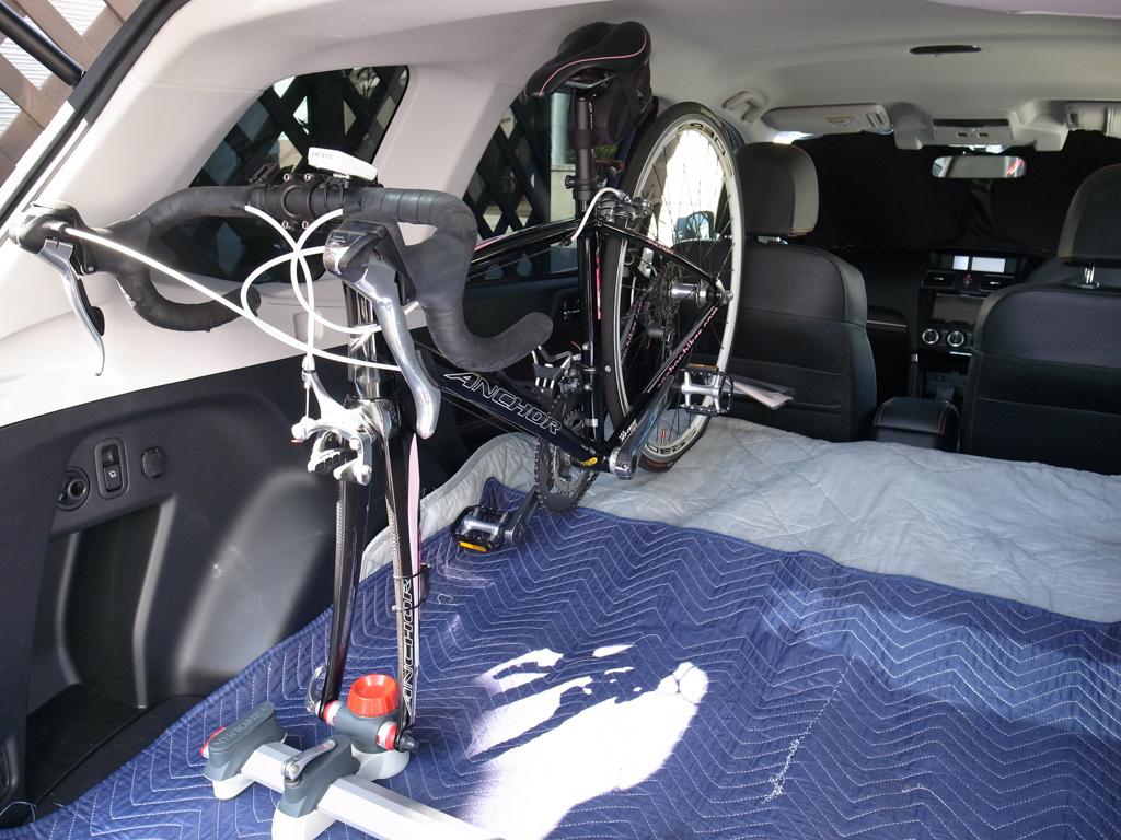 スバル・フォレスター ロードバイク2台を車載してみた。_b0247073_12063272.jpg