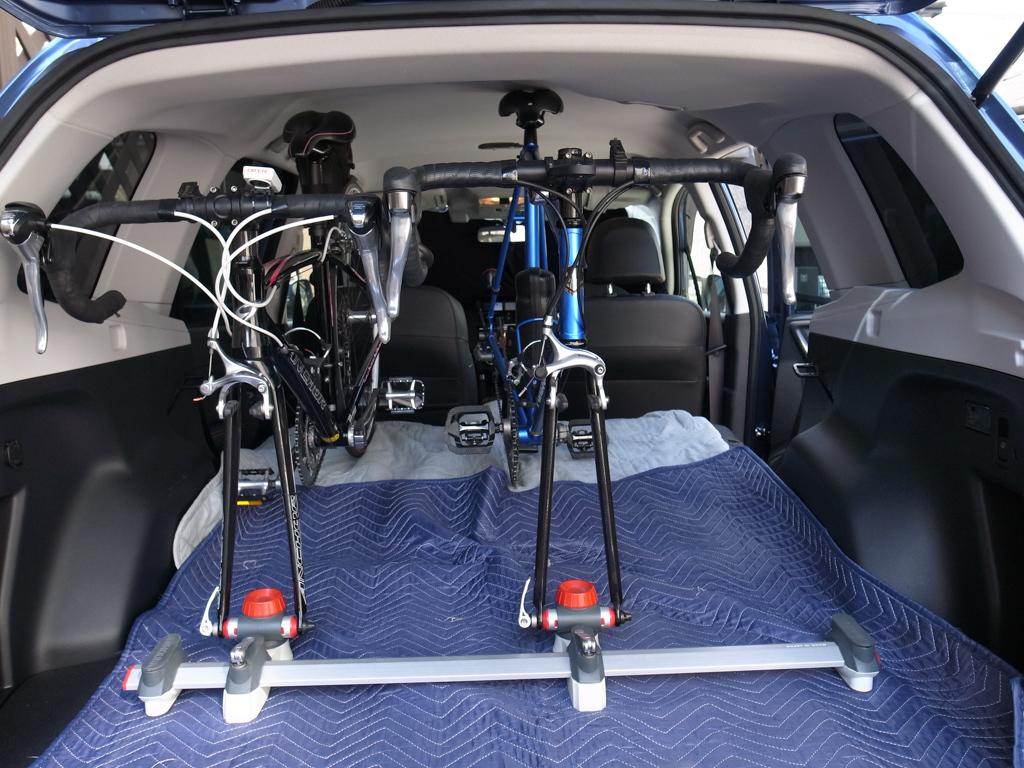 スバル・フォレスター ロードバイク2台を車載してみた。_b0247073_12073447.jpg