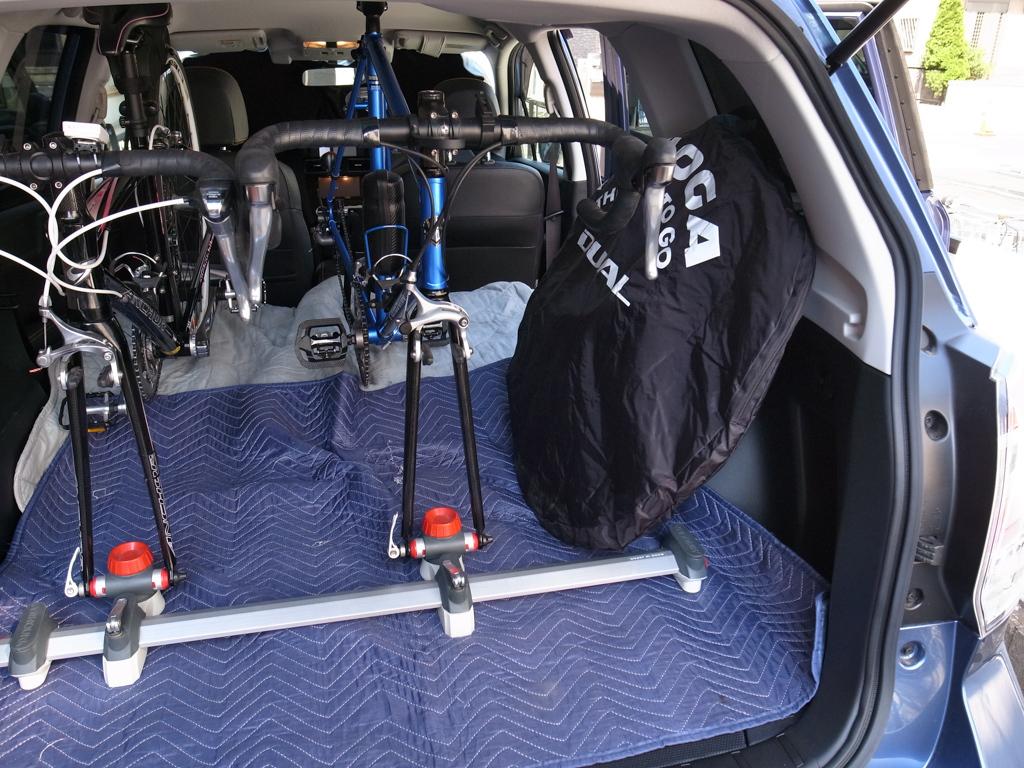 スバル・フォレスター ロードバイク2台を車載してみた。_b0247073_21214916.jpg
