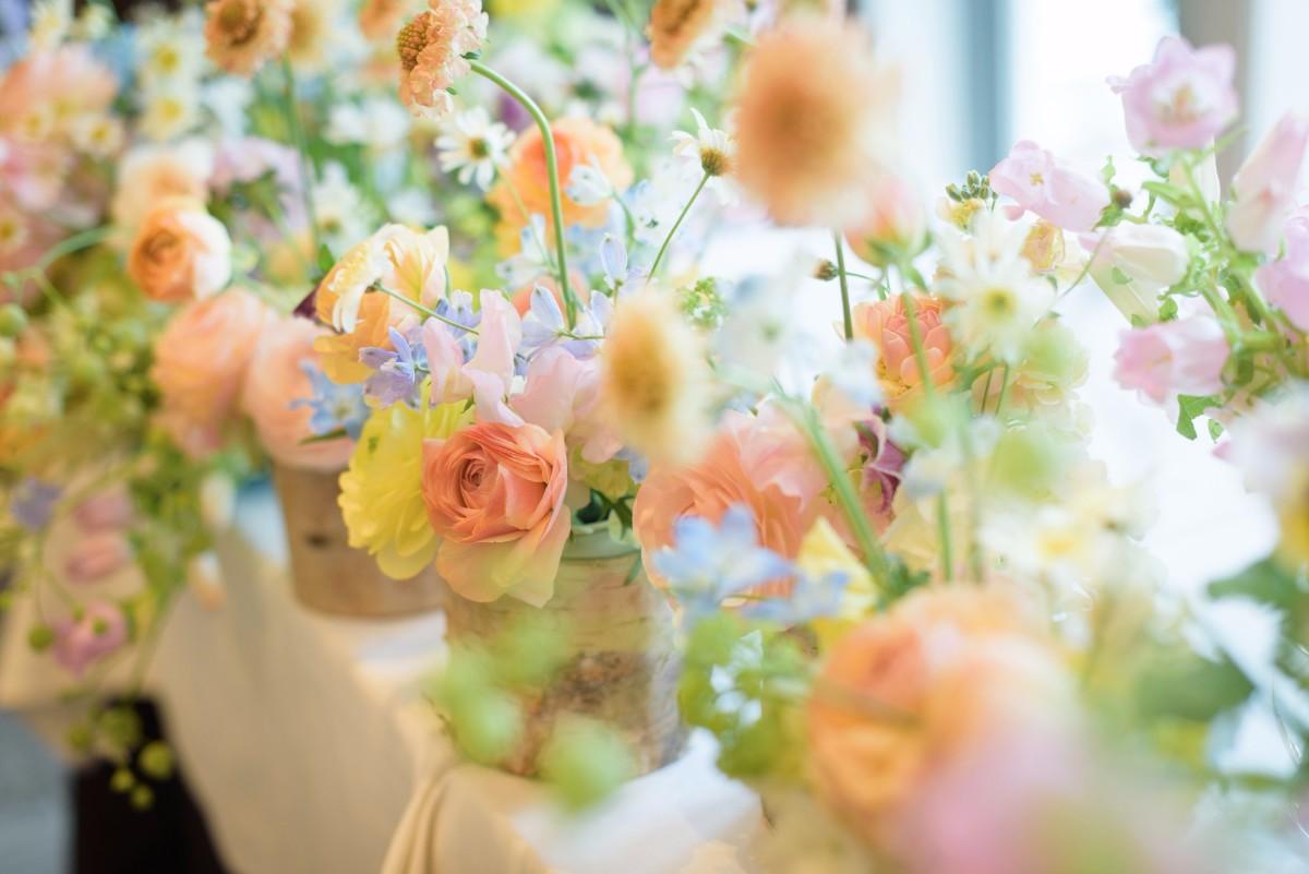 新郎新婦様からのメール 春の装花 FEU様へ 1 春の幸せな一日へ_a0042928_21193597.jpg