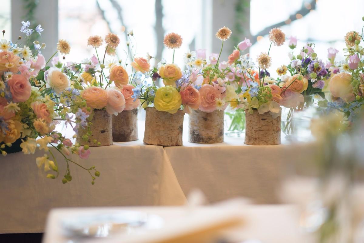 新郎新婦様からのメール 春の装花 FEU様へ 1 春の幸せな一日へ_a0042928_21235060.jpg