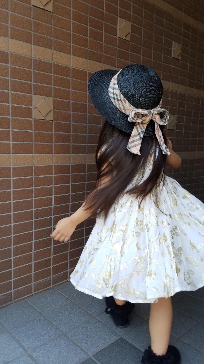 私のお下がり帽子&着なくなったスカート、娘のおニュー帽子に♪_d0224894_00142140.jpg