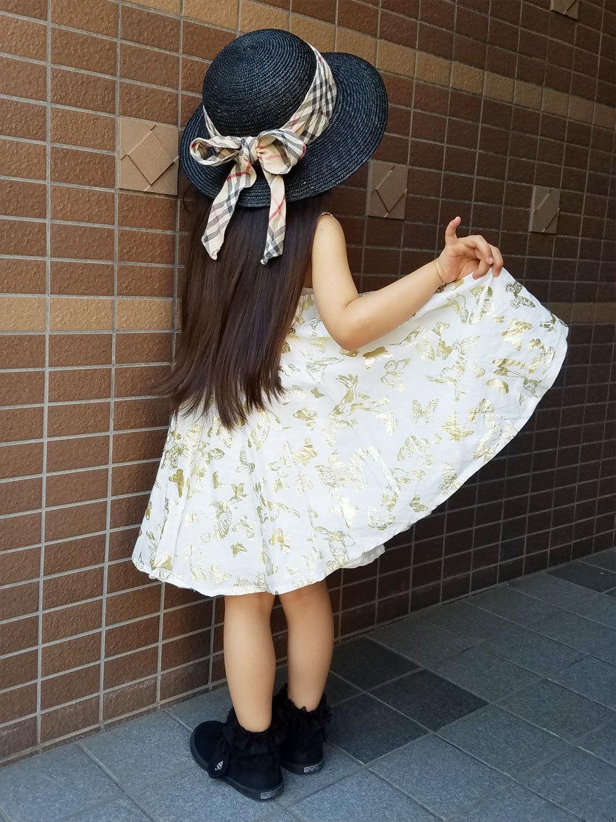 私のお下がり帽子&着なくなったスカート、娘のおニュー帽子に♪_d0224894_00142374.jpg