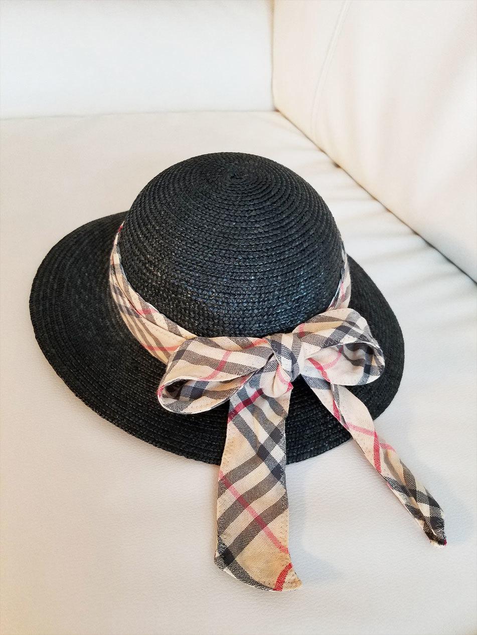 私のお下がり帽子&着なくなったスカート、娘のおニュー帽子に♪_d0224894_00143425.jpg