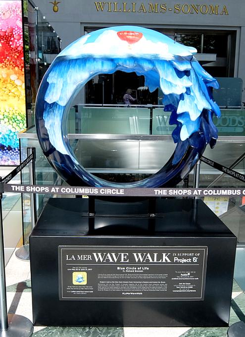 NY市内各所に54個もの波のアート作品が登場中 #LaMerWaveWalk_b0007805_13322872.jpg
