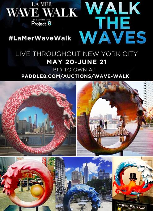 NY市内各所に54個もの波のアート作品が登場中 #LaMerWaveWalk_b0007805_1340158.jpg