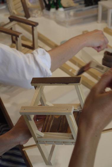 DIYワークショップ『ミニチュア椅子を作ろう!』6月の部が終了しました。_c0334574_19384895.jpg