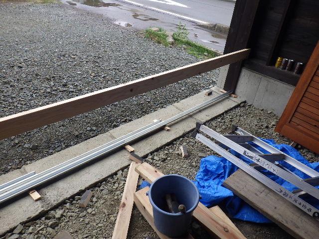 木造ガレージを造る  完成!_f0105112_4234285.jpg