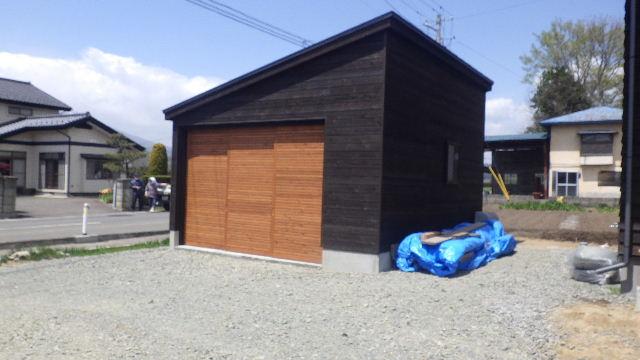 木造ガレージを造る  完成!_f0105112_4334362.jpg