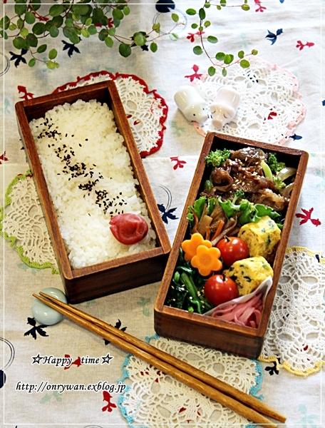 牛肉ブロッコリーのオイスターソース炒め弁当とミルクチョコハース♪_f0348032_18511242.jpg