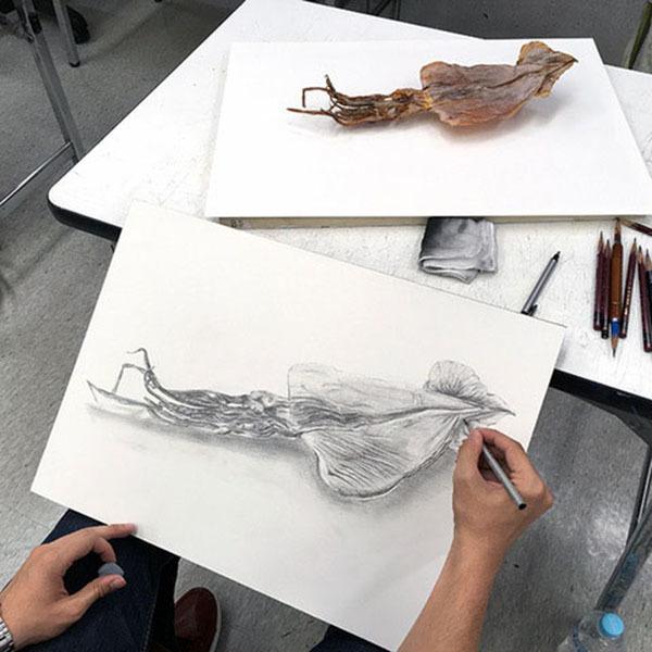 8週目は自然物と人工物/デザイン・工芸科 私大コース_f0227963_09080765.jpg