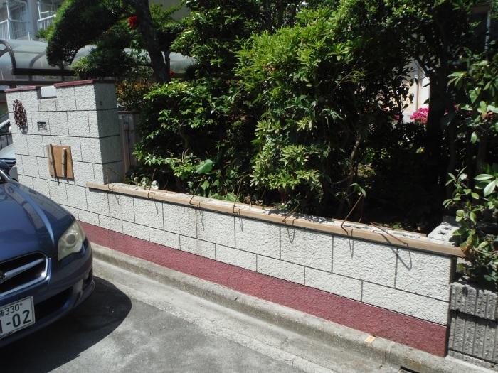 ブロック塀リフォーム ~ ブロック塀の解体_d0165368_05073045.jpg
