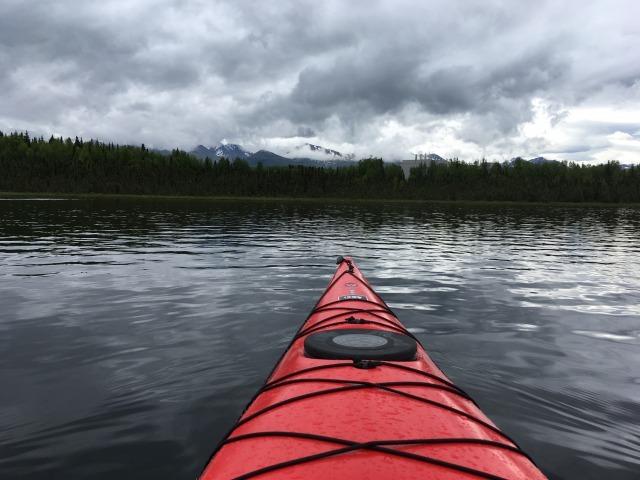 グースレイクでカヤック Kayak at Goose Lake_b0135948_15543277.jpg