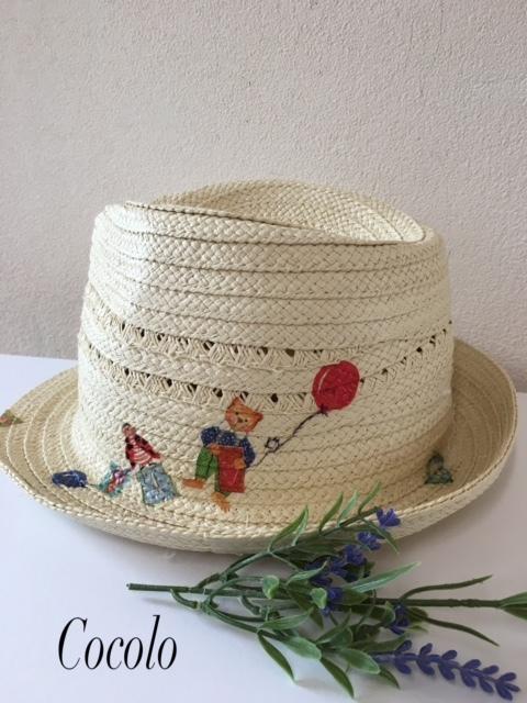 孫の帽子にデコパージュ_c0341604_22323070.jpg