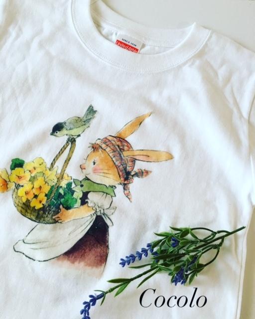 子ども用Tシャツにデコパージュ_c0341604_23190755.jpg