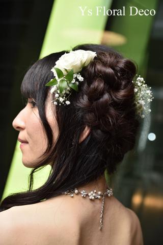 白グリーンのティアドロップブーケ & サプライズ花束 二次会へ_b0113510_16361073.jpg