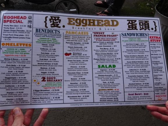 ハワイ2017 その8 Egg HEaD CAFEでモーニング_e0230011_17254057.jpg