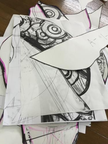 陶壁画  型紙つくり_d0235276_20110936.jpg