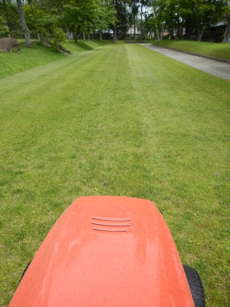境内芝刈り作業_c0111229_19362123.jpg