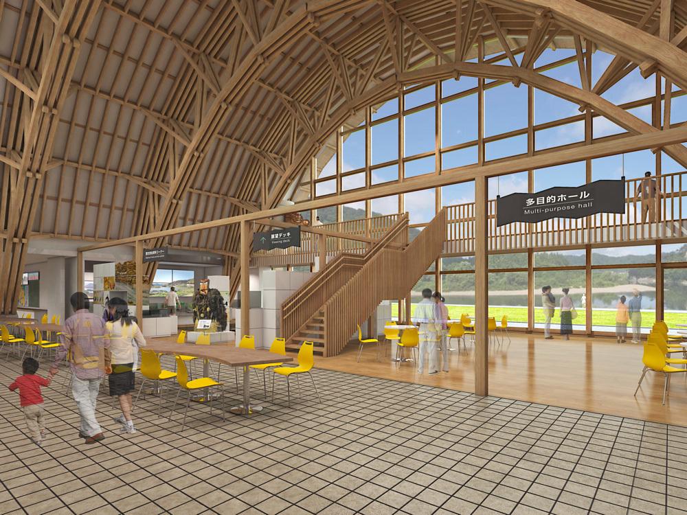 二ツ井道の駅:木造トラスの原寸_e0054299_10585174.jpg