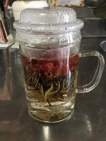 私のお誕生日に戴いたお花の中国茶 初おろし_e0124015_13441858.jpeg