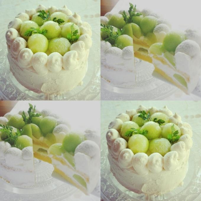 メロンのショートケーキ!_d0138307_18272225.jpg