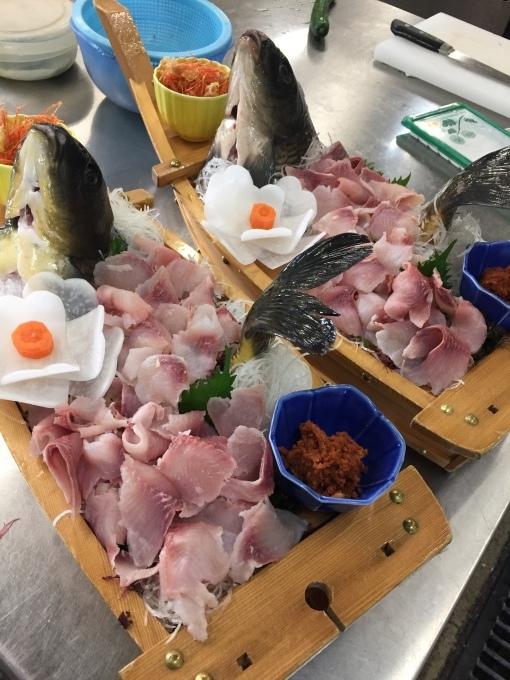 鯉の洗い_d0182179_23541950.jpg