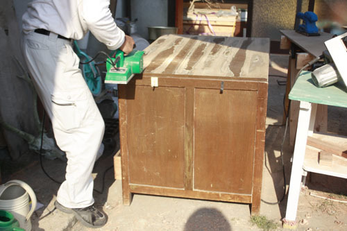 クローゼット作り 棚作り デッキ階段作り_f0208315_00165753.jpg
