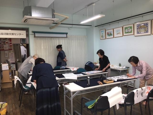 編み物教室&初心者ゴルフ教室&書道教室_c0113948_14343980.jpg