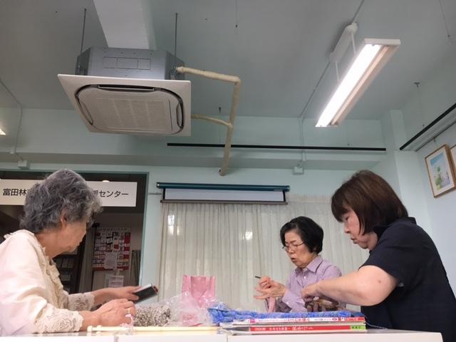 編み物教室&初心者ゴルフ教室&書道教室_c0113948_14344629.jpg