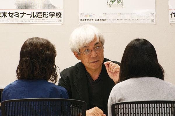 体験デッサンと受験相談会が行われました。_f0227963_10072712.jpg