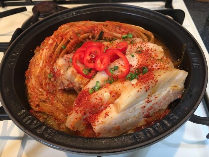 キムチと豚肉の蒸し煮、キムチチムを作ったよ_a0223786_11592657.jpg