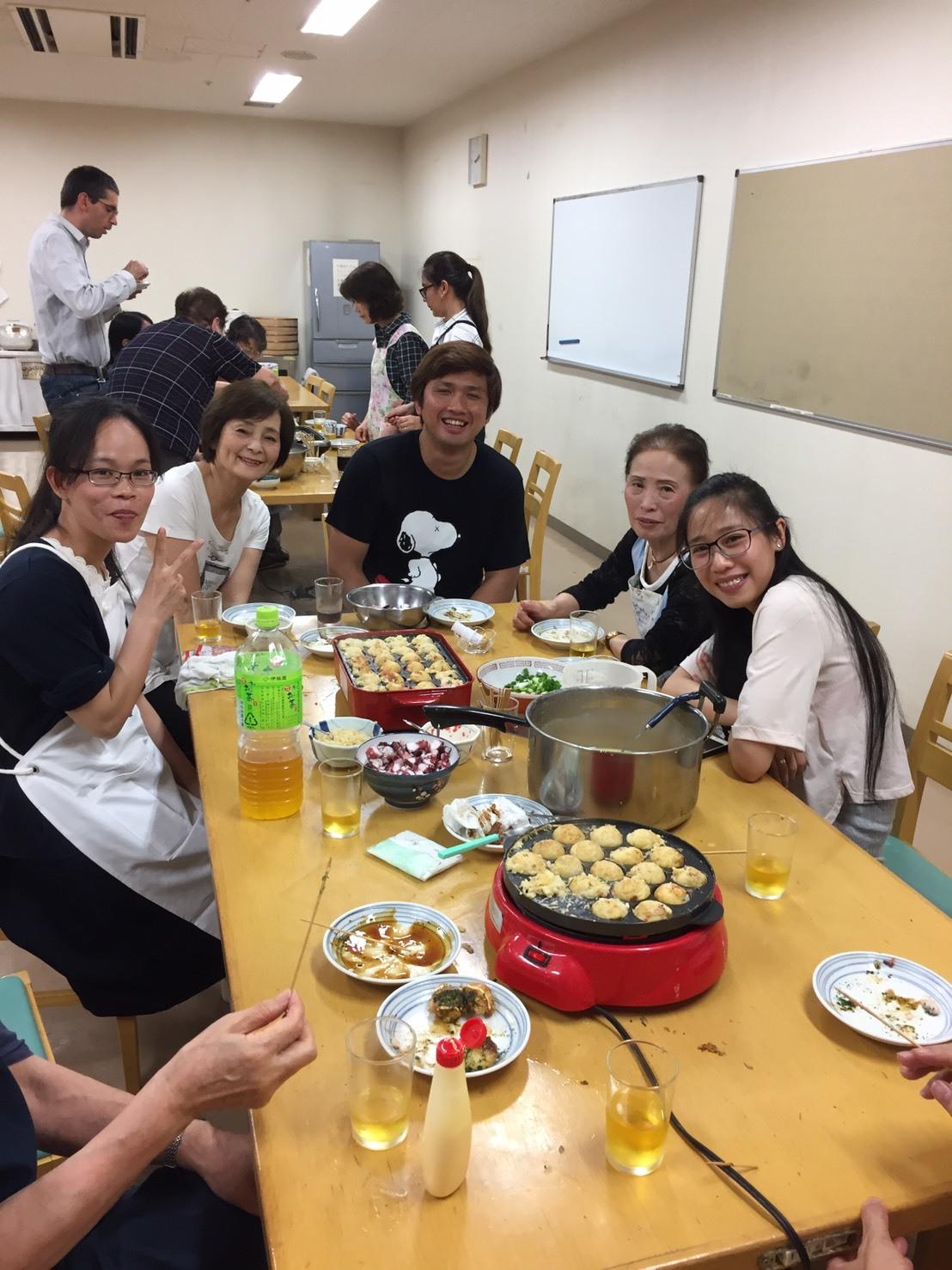 水曜昼教室 たこ焼きパーティ_e0175020_16585077.jpg