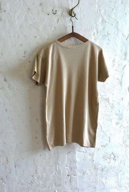 Italian navy boat neck t-shirts beige_f0226051_15544043.jpg