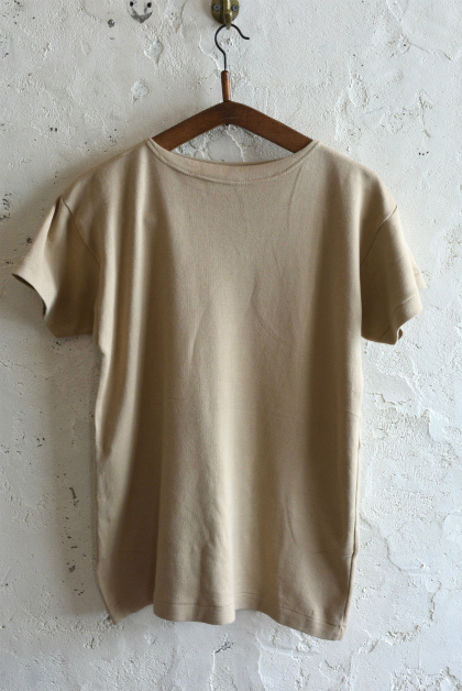 Italian navy boat neck t-shirts beige_f0226051_15544393.jpg