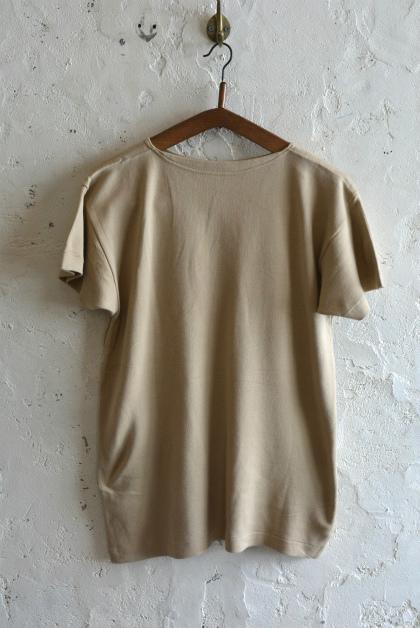 Italian navy boat neck t-shirts beige_f0226051_15593076.jpg