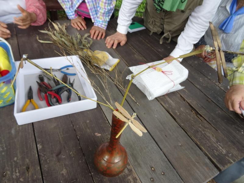 竹製トンボのクラフト・・・うみべの森_c0108460_21374307.jpg
