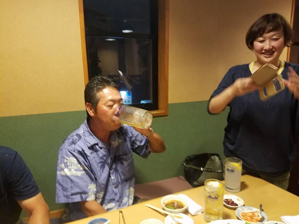 吉川社長の記念コンペと祝賀会に御祝いに駆け付けました。_c0186691_9371775.jpg