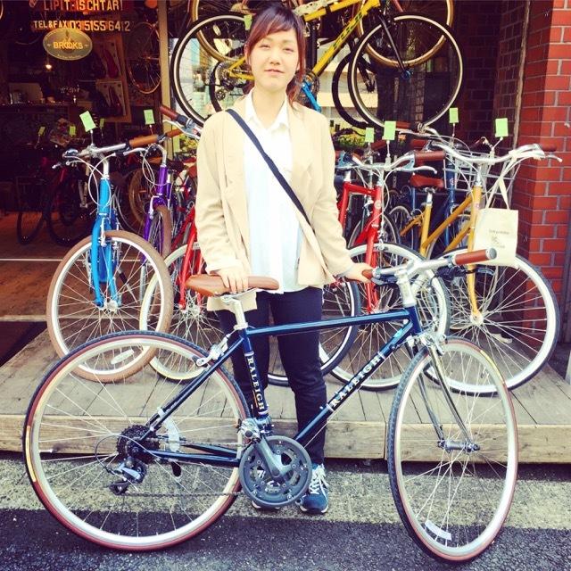 ☆今日のバイシクルガール☆ 自転車女子 自転車ガール ミニベロ クロスバイク ライトウェイ トーキョーバイク シュウイン ラレー ブルーノ おしゃれ自転車 マリン_b0212032_14503797.jpg