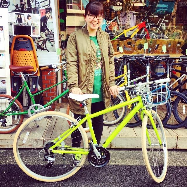 ☆今日のバイシクルガール☆ 自転車女子 自転車ガール ミニベロ クロスバイク ライトウェイ トーキョーバイク シュウイン ラレー ブルーノ おしゃれ自転車 マリン_b0212032_14510917.jpg