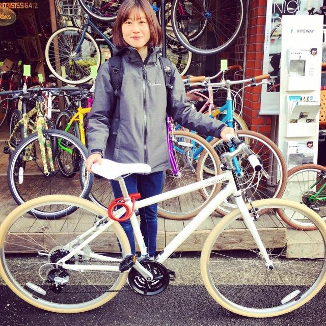 ☆今日のバイシクルガール☆ 自転車女子 自転車ガール ミニベロ クロスバイク ライトウェイ トーキョーバイク シュウイン ラレー ブルーノ おしゃれ自転車 マリン_b0212032_14512956.jpg