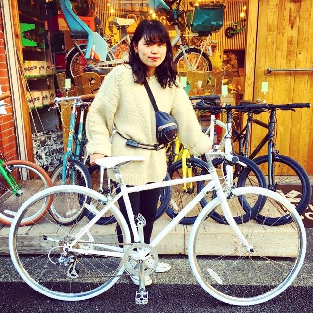 ☆今日のバイシクルガール☆ 自転車女子 自転車ガール ミニベロ クロスバイク ライトウェイ トーキョーバイク シュウイン ラレー ブルーノ おしゃれ自転車 マリン_b0212032_14514478.jpg
