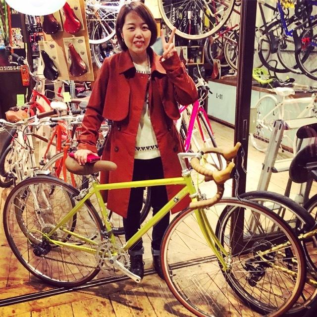 ☆今日のバイシクルガール☆ 自転車女子 自転車ガール ミニベロ クロスバイク ライトウェイ トーキョーバイク シュウイン ラレー ブルーノ おしゃれ自転車 マリン_b0212032_14515682.jpg