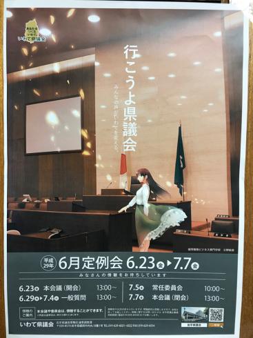 県議会6月定例会開会〜7月4日は私の一般質問〜_b0199244_16561662.jpg