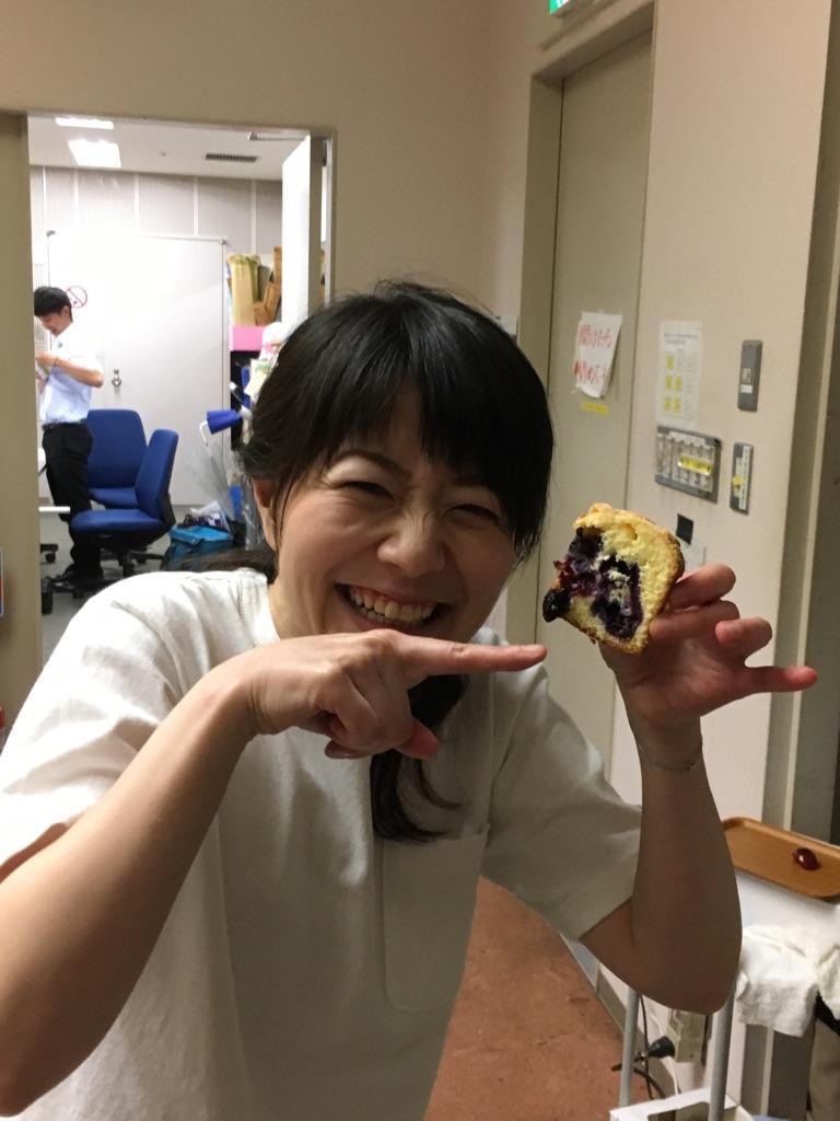 NHKはっけんテレビで ブルーベリーマフィンを♪_d0210450_115513.jpg