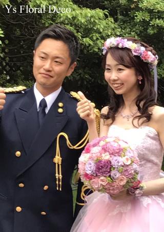 ピンク&ラベンダーのお色直しドレスに 花冠&リストレット _b0113510_16072084.jpg