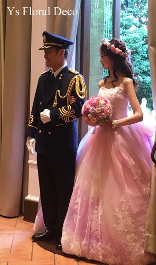 ピンク&ラベンダーのお色直しドレスに 花冠&リストレット _b0113510_16073153.jpg