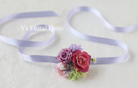 ピンク&ラベンダーのお色直しドレスに 花冠&リストレット _b0113510_16081481.jpg