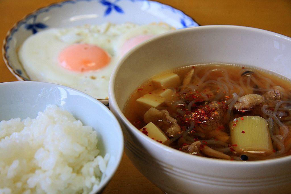 夏仕様の牛肉スープな朝餉_e0220163_18280584.jpg