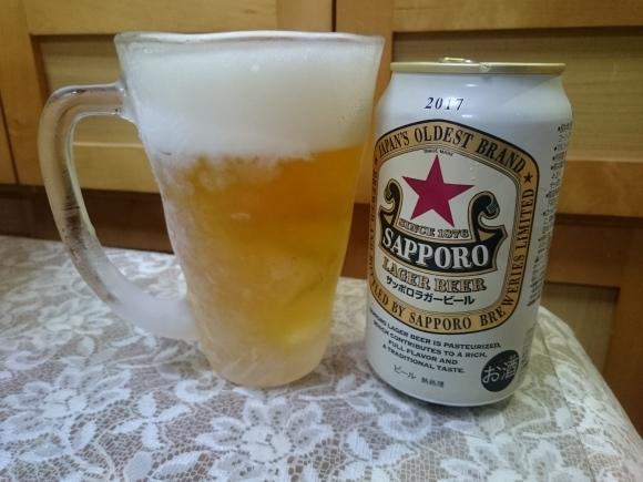 6/26 サッポロラガービール赤星2017 350ml¥203_b0042308_23490336.jpg